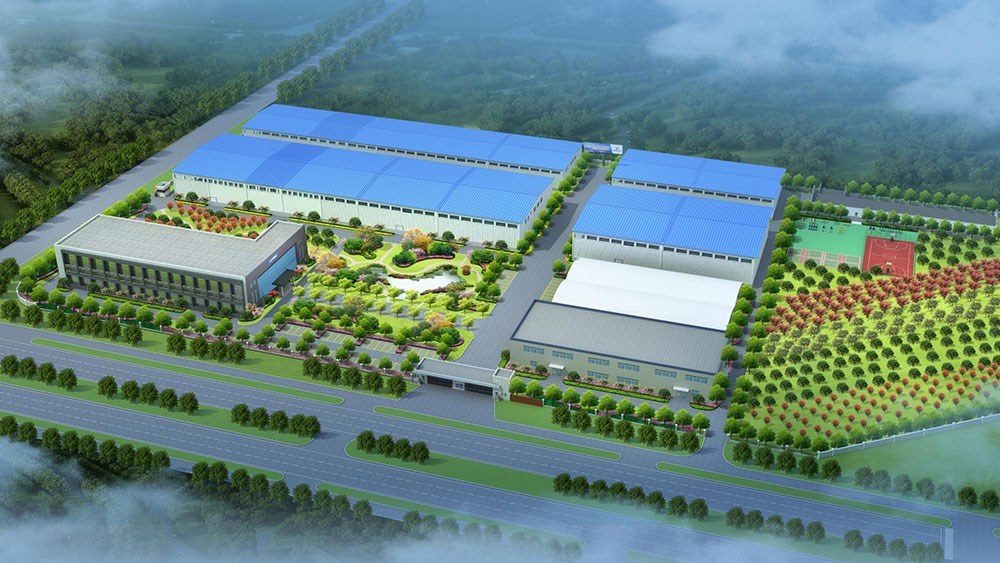 厂区景观绿化效果图